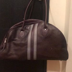 Leather bowler travel bag